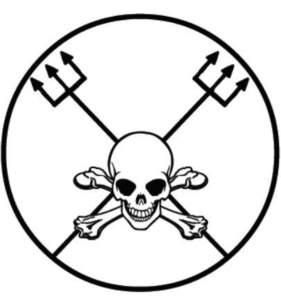 Понту рискаду Эшу Кавейры для эвокации или инвокации сил войны, способствующих как нападению, так и защите