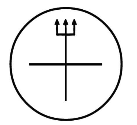 прямоугольный трезубец